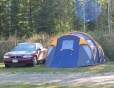 Tenting in iRVin\'s RV Park